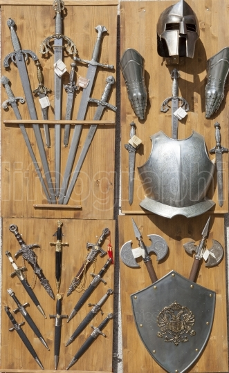 Armor, knives, and swords, Toledo, Spain