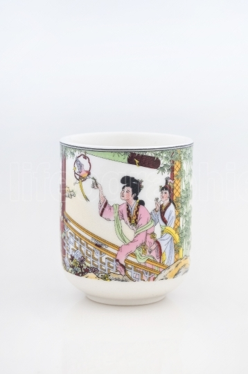 Artistic chinese tea cup