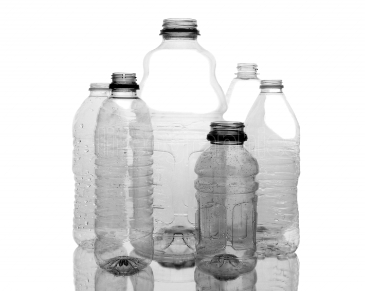 Assorted Clear Plastic Bottles
