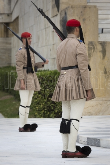 ATHENS, GREECE   SEPTEMBER 21  The Changing of the Guard ceremon