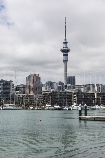 Auckland, new zealand november 24 2014: front of the cbd of auck