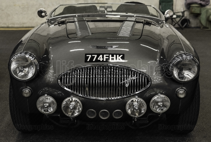 Austin Healey 100F old car. Switzerland