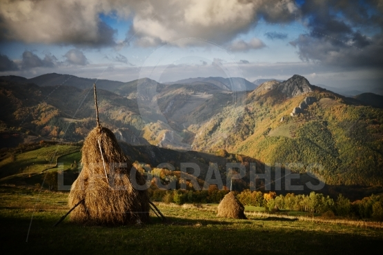 Autumn landscape in the mountains - Romania