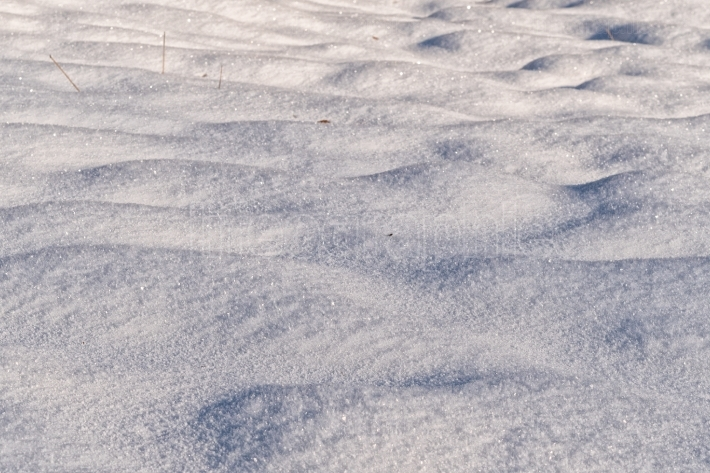 Background of snow texture in warm tone