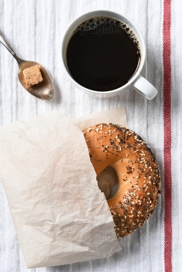 Bagel Coffee and Sugar
