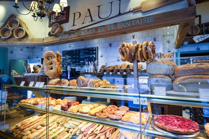 Bakery and pastry shop in Brussels, Belgium