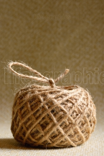 Ball of hemp rope