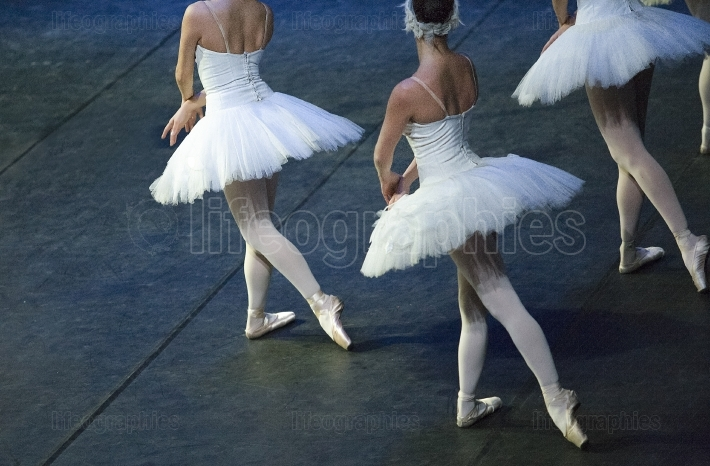 Ballet dancers performing Swan Lake