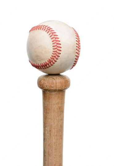 Baseball on Knob of Bat