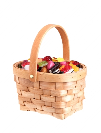 Basket filled with candy