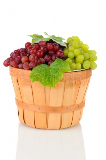 Basket of Assorted Grapes