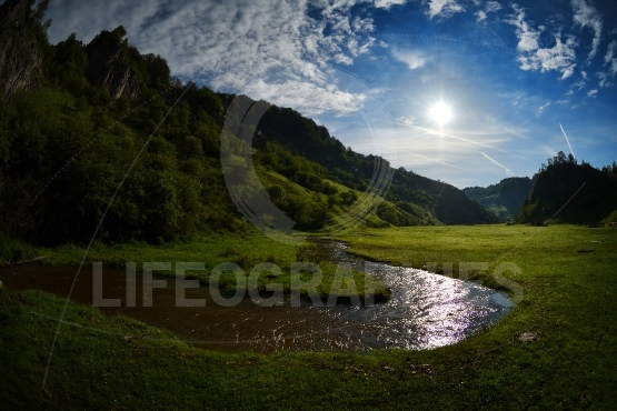Beautiful summer landscape in the mountains, Hunedoara, Romania