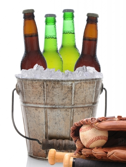 Beer Bucket and Baseball