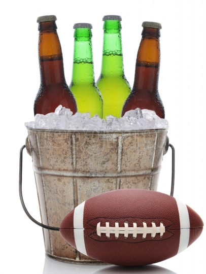 Beer Bucket with Football