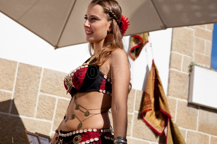 Belly dancer walking