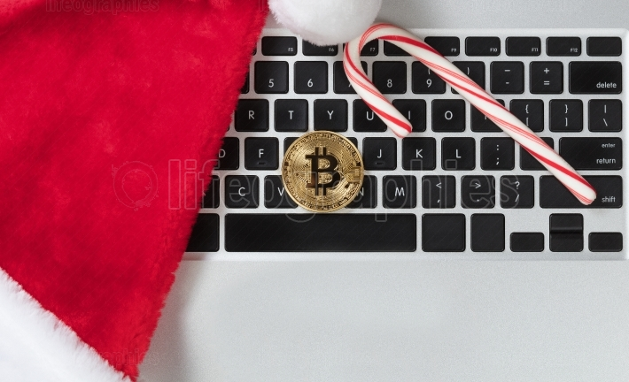 Bitcoin cyber currency for online shopping for Christmas holiday