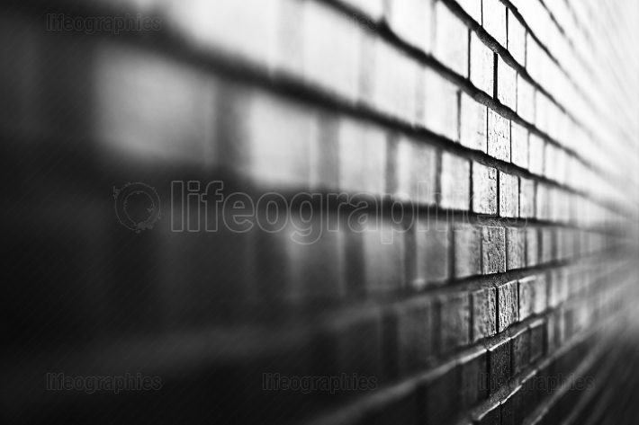 Black and white diagonal brick wall background