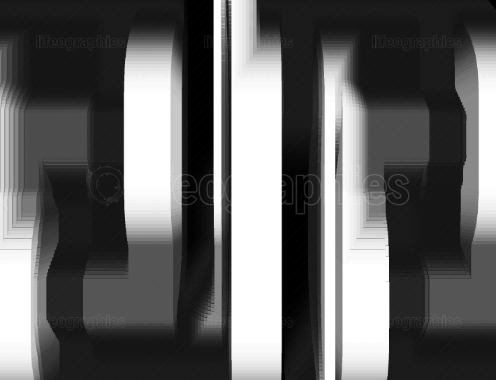 Black and white piece of machinery 3d illustration background
