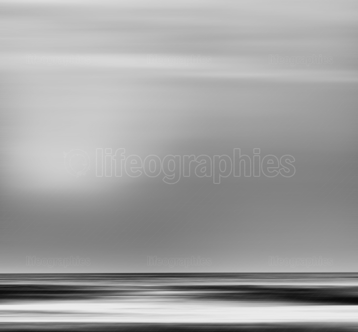 Black and white simple motion blur ocean background backdrop
