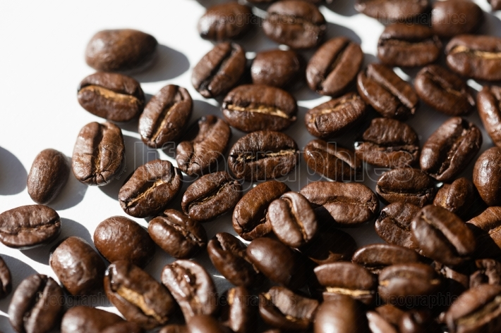 Black coffee grains