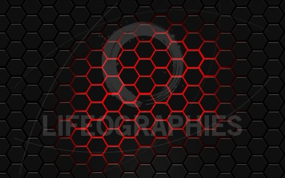 Black hexagon wallpaper