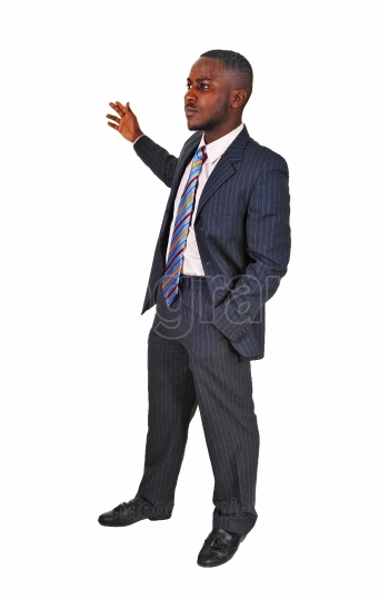 Black man in business suit