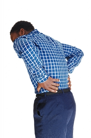 Black man with backache