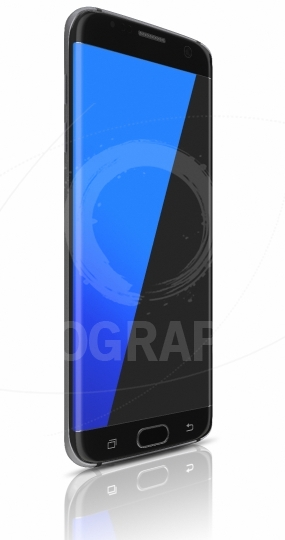 Black smartphone edge