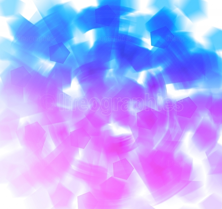 Blue and pink shapes abstract explosion background