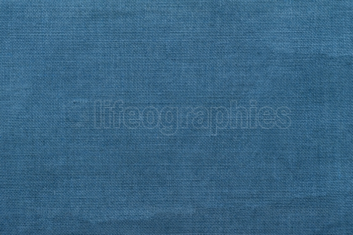 Blue burlap background and texture