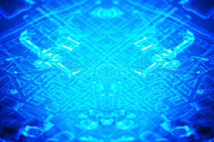 Blue computer pcb abstract illustration background