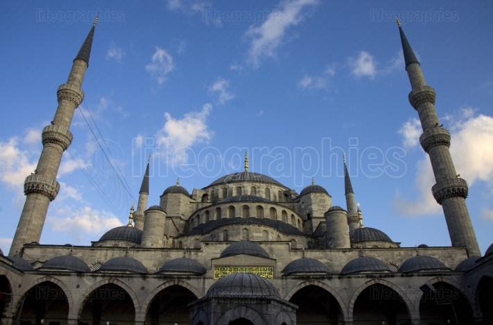 Blue sky and blue mosque