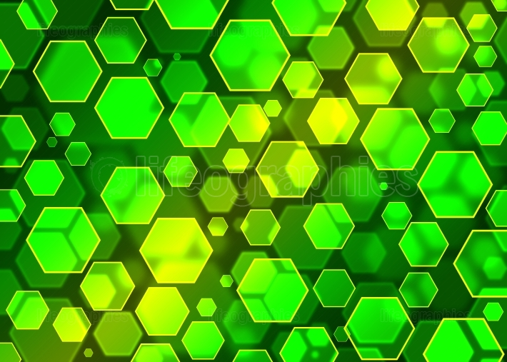 Bokeh.Hexagon abstract wallpaper