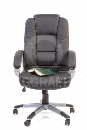 Book on office chair