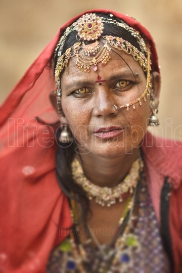 Bopa gypsy woman from Jaisalmer region, Indian state of Rajasthan