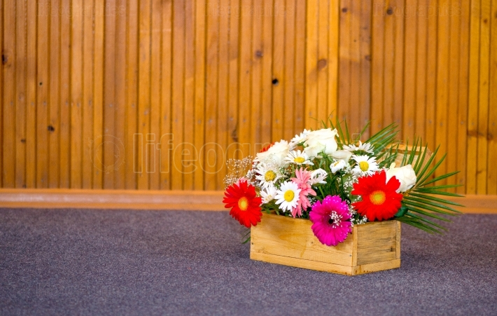 Bouquet of gerberas for wedding decoration