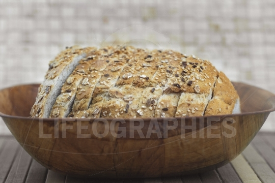 Bread on basket