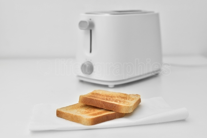 Bread toast with toaster