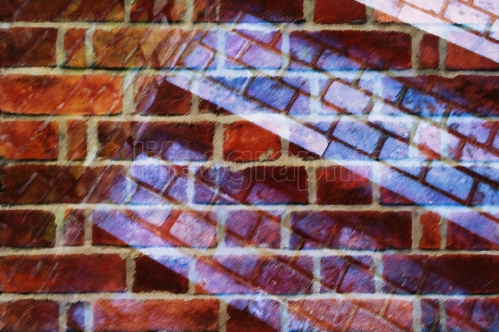 Brick collage abstraction