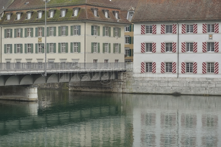 Bridge and old buildings from solothurn city