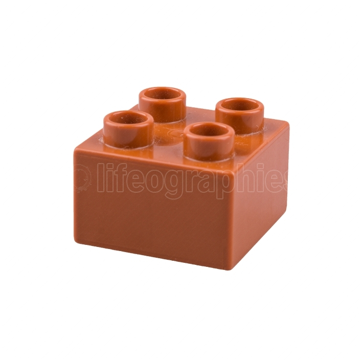 Brown cube on a white background