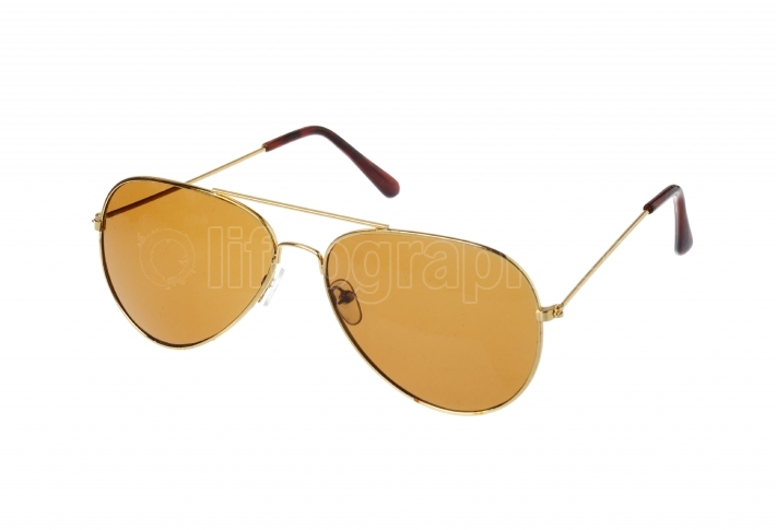 Brown sunglasses on white