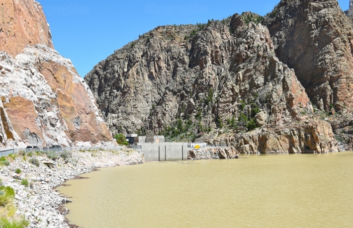 Buffalo Bill Dam and Reservoir