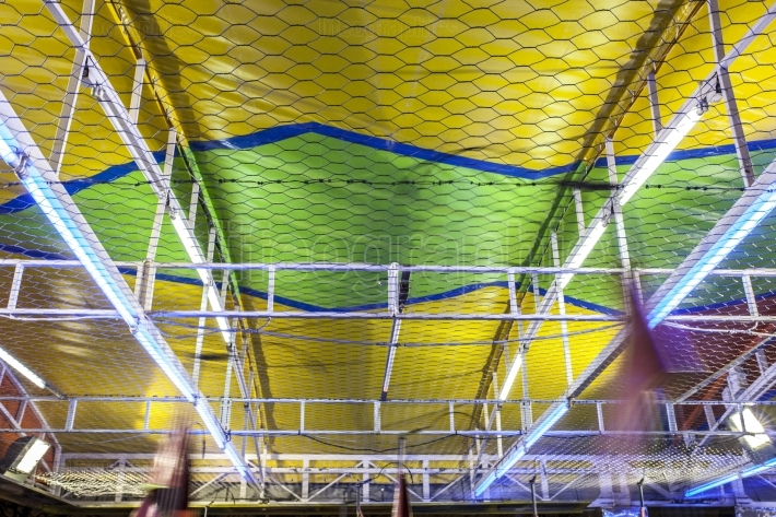 Bumper cars ceiling attraction