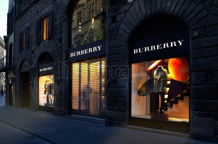 Burberry store in Florence, one of t