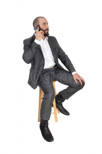 Business man on his cell phone