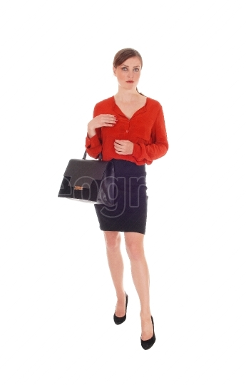 Business woman with black purse