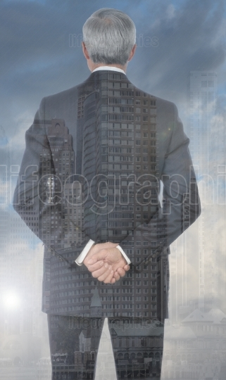 Businessman Double Exposure
