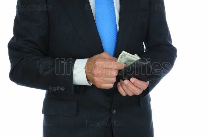 Businessman Taking Cash From Wallet