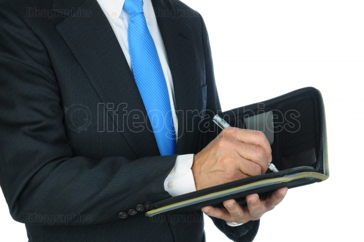 Businessman Taking Notes